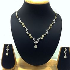 American Diamond Necklace with Price: Rs 1,543.75 - Buy Online at www.imitationjewelleryonline.com