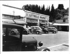 Guerneville Pharmacy and Luttrell's Market, Guerneville, California, 1935