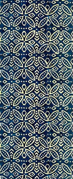Indonesian Batik - Lovely indigo pattern