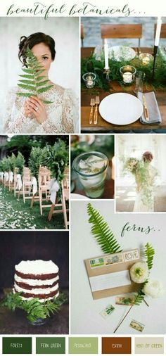 Must have greens to match our winter wedding! And my bridesmaids are all wearing shades of green!