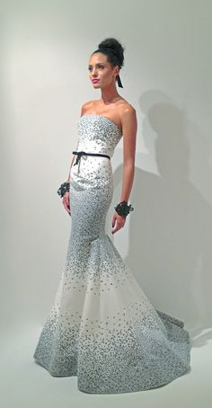 Harry Robles evening dress Spring Summer 2013