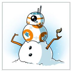 Snowman - This official Star Wars t-shirt featuring is only available at TeeTurtle! Christmas Cartoons, Christmas Humor, Bb 8 Wallpaper, Chibi, Star Wars Christmas, Star Wars Merchandise, Star Wars Fan Art, Star War 3, Star Wars Tshirt