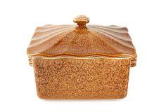 Square Covered Casserole Dish, Amber on OneKingsLane.com