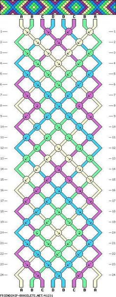 DIY Jewelry: Just one of thousands of amazing friendship bracelet patterns on the site Diamond Friendship Bracelet, Making Friendship Bracelets, Friendship Bracelets Designs, Bracelet Designs, Bracelet Fil, Bracelet Crafts, Thread Bracelets, Macrame Bracelets, Ankle Bracelets