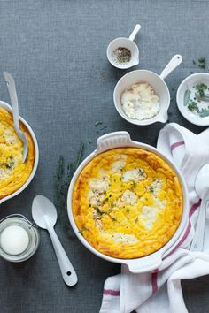 Légumes : flan de patates douces, panais et céleris
