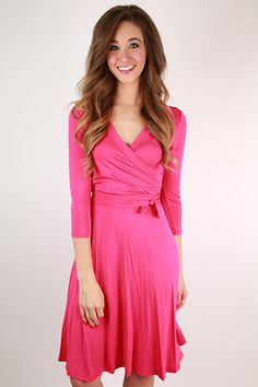 Love Of My Life Dress in Hot Pink