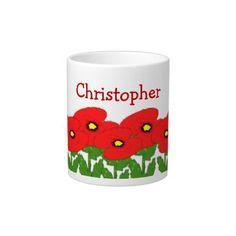 Poppies Just Add Name Extra Large Mug