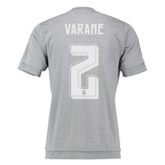 d788056d1d5d8 Real Madrid Jersey 2015 16 Away Grey Soccer Shirt  2 Varane Real Madrid  Jersey