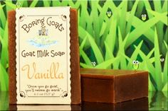 """""""Vanilla"""" Goat Milk Soap - A rich Vanilla scent that will temp you to reach for the hot fudge, some nuts and a spoon! OK... that may not be your first reaction but it could happen. As long as your shower isn't in your kitchen you should be OK."""