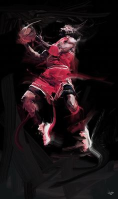 c38b023fc7cf Michael Jordan  His Airness  Digital Painting Jordan 23