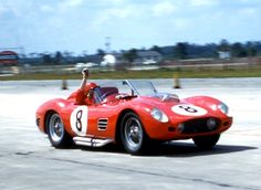 """From Dave Nicholas: """"We were all in love with that damn Testa Rossa. I still think it is possibly the most beautiful Ferrari -- hell, race car -- ever built.   Jack Nethercutt was terrific.  Never met him, but he must have had some money.  Look at the perfect helmet, goggles, gloves... the dude was very, very cool."""""""