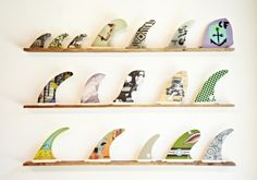 #kovey #diy painted surf fins, so cool!