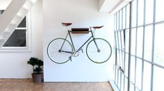 The Bike Shelf - Now available in two sizes and the new Hickory finish.