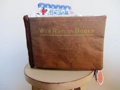 Art Book WWII Ration Stamps 3D Retro Vintage by stitchingbevy, $48.00