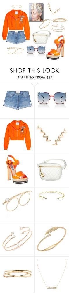 """Orange Krush 👄"" by missactive-xtraordinary ❤ liked on Polyvore featuring Sandrine Rose, Fendi, Moschino, Humble Chic, Prada, Chanel, Jacquie Aiche, Sabine Getty and Nadri"