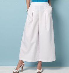 Potential culottes pattern if self-drafting doesn't work out: V9091, Misses' Culottes and Pants