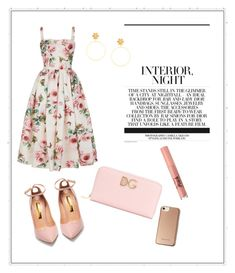 """""""D&G flowers outfit"""" by petranaulicna on Polyvore featuring Dolce&Gabbana, Rupert Sanderson, Too Faced Cosmetics and Karen Millen"""