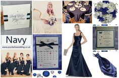 Navy Blue Wedding Theme - Discover the businesses behind the mood board www.yourbellawedding.co.uk