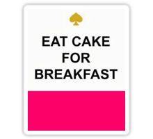 Eat Cake for Breakfast Kate Spade Sticker Breakfast Cake, Stick It Out, Sticker Design, Eat Cake, Stickers, Kate Spade, Graphics, Graphic Design, Printmaking