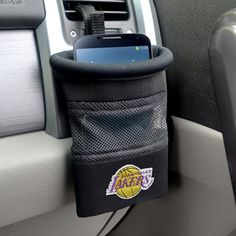 Los Angeles Lakers Embroidered Car Caddy Catch Organizer - Cell Phone Holder