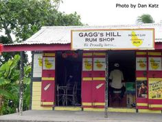 Bajan  Rum Shop: A rum shop is the  place to go in Barbados to share a laugh, a story and a drink. Usually painted up with ads from big companies.