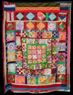 Unknown Quilt Maker Collected in Oakland, CA 58 x 78 inches 1960 - 1970 Corduroys, cottons, cotton blends