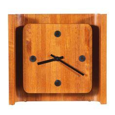 Danish Modern Teak Wall Hanging or Desk Clock | 1stdibs.com