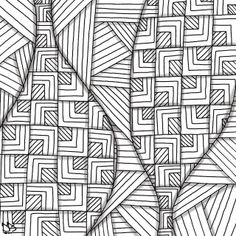 2 designs only. Simplicity that looks good. Tangle Doodle, Tangle Art, Doodle Drawings, Doodle Art, Zentangle Patterns, Zentangles, Doodle Designs, Doodle Ideas, Pen Doodles