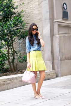 rebecca-taylor-lace-pleated-skirt
