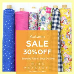 We're having a huge Autumn sale at Miss Matatabi!