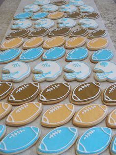 How to decorate football cookies