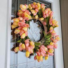 How to Make a Spring Tulip Wreath - Crafty Morning Valentine Crafts For Kids, Valentine Wreath, Crafts For Kids To Make, Easter Crafts, Valentines, Kids Crafts, Easter Ideas, Fingerprint Crafts, Easter Egg Dye