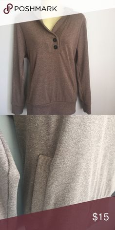 Banana Republic sweater Size PL. Front pocket, 2 button detail. 57% cotton, 38% poly, 5% spandex. Banana Republic Sweaters