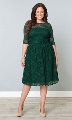 Are you #Irish and love to show your pride wearing a green lace cocktail party dress?