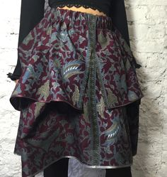 Bali New Dragon double-layered Skirt. Made of ethnic cotton.
