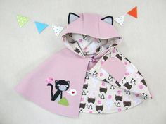 Hey, I found this really awesome Etsy listing at https://www.etsy.com/listing/215580507/children-capelet-kitty-girl-cape-poncho