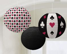 3 LAMPIONS CASINO PARTY Deko Poker Roulette Black Jack Las Vegas in Sammeln & Seltenes, Saisonales & Feste, Geburtstag | eBay