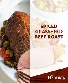 Spiced Grass-Fed Beef Roast | Wondering what to make for #dinner, or your next #potluck? Use a #crockpot or oven to slowly cook this well-seasoned beef #roast until it's tender and juicy. Use #grassfed #beef to make sure it is lean, and free from antibiotics and hormones. Goes great with Double-Up Roasted Veggies too.
