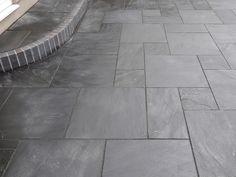Slate Tiles & Claddings for Walls & Floors Slate Paving Slabs, Slate Patio, Patio Tiles, Outdoor Tiles, Outdoor Rooms, Indoor Outdoor, Small Garden Design, Bathroom Design Small, Garden Slabs