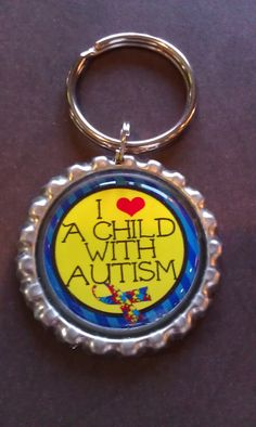 The webiste it great:  Autism Awareness Keychain  I Love A Child With by tracikennedy, $6.00