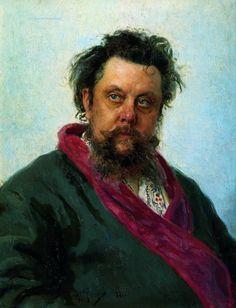 Ukrainian-Russian Realist Painter Ilya Repin (1844-1930) - Portrait of the Composer Modest Musorgsky (1881)