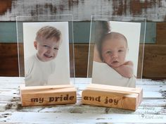 Have scraps of 2x4's laying around? Use them to make wood block floating picture frames as gifts for Christmas. Lumber and plexiglass are basically all you need.
