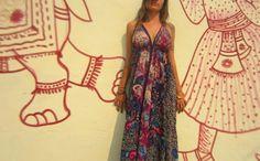 1ª versão do Vestido Ona da Shakti, um dos clássicos da marca.