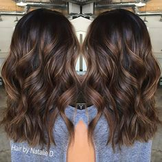 Black Coffee Hair With Ombre Highlights - 10 Cool Ideas of Coffee Brown Hair Color - The Trending Hairstyle Honey Brown Hair, Brown Ombre Hair, Brown Hair Balayage, Balayage Brunette, Hair Color Balayage, Brown Hair Colors, Brunette Hair, Hair Highlights, Dark Balayage