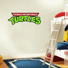 Teenage Mutant Ninja Turtles Wall Decal, this would be great for the turtle room
