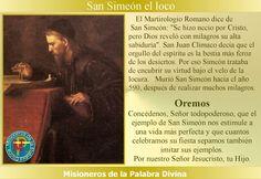 Misioneros de la Palabra Divina: SANTORAL SAN SIMEÓN EL LOCO