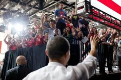 President @Barack Obama waves to members of the audience after speaking on college affordability at the University of Las Vegas in Las Vegas, Nev.