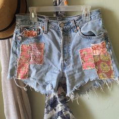 Selling this Free People Levi patched shorts!! in my Poshmark closet! My username is: ashleyhill0. #shopmycloset #poshmark #fashion #shopping #style #forsale #Free People #Pants