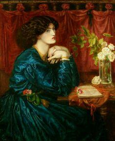 Jane Morris(the blue silk dress) Dante Gabriel Rossetti (1828-1882)/ Pre-Raphaelite