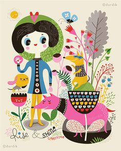 Dog illustrations by Helen Dardik